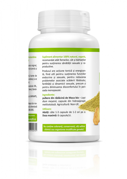 Supliment alimentar, Bio Maca (600 mg) - 60 capsule [1]