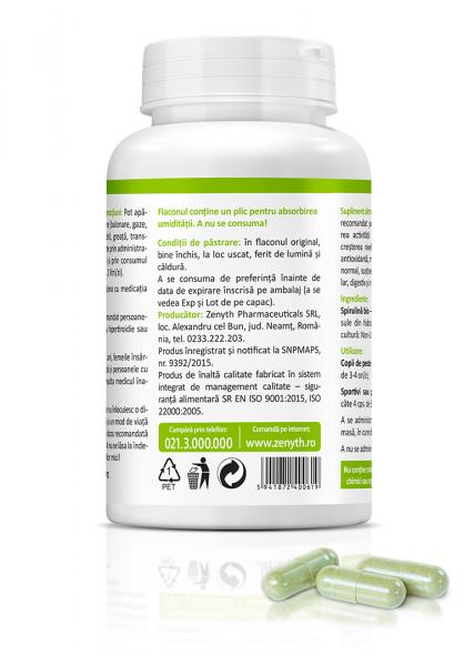 Supliment alimentar, Bio Spirulina (450 mg) - 60 capsule [2]