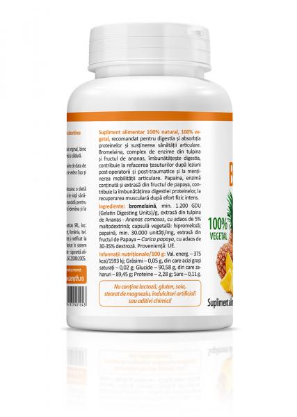 Supliment alimentar,  Bromelain & Papain (700 GDU) - 60 capsule [1]