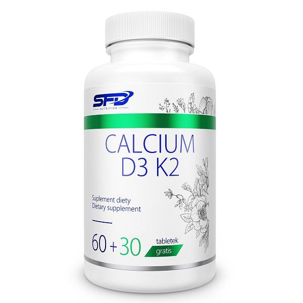 Supliment alimentar, Calciu (375 mg)+ Vitamina D3 (25 μg) si K 2 (50 μg) - 90 comprimate (90 doze) [0]