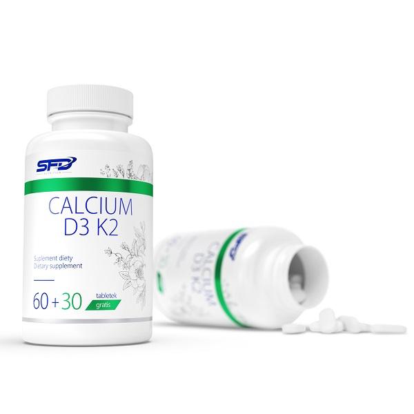 Supliment alimentar, Calciu (375 mg)+ Vitamina D3 (25 μg) si K 2 (50 μg) - 90 comprimate (90 doze) [1]