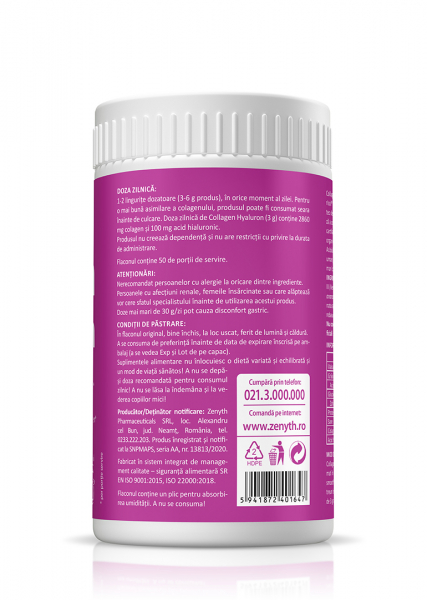Supliment alimentar, Collagen + Hyaluron - 150 g (pulbere) [1]
