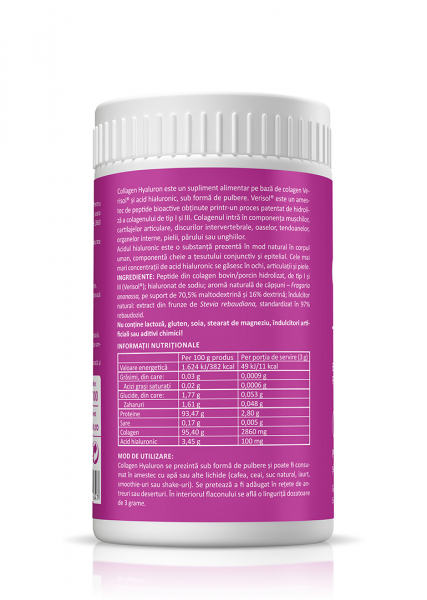 Supliment alimentar, Collagen + Hyaluron - 150 g (pulbere) [2]