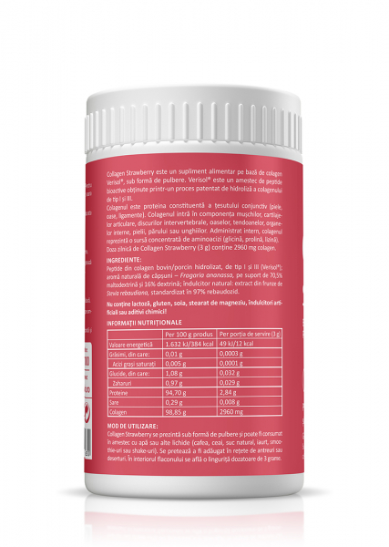 Supliment alimentar, Collagen Strawberry - 150 g (pulbere) [1]