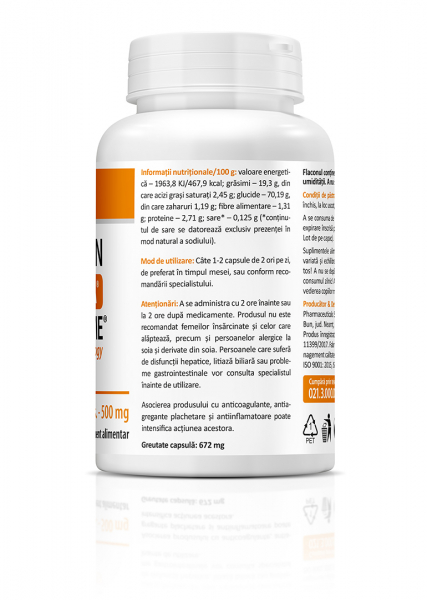 Supliment alimentar, Curcumin with Meriva® (500 mg) - 60 capsule [3]