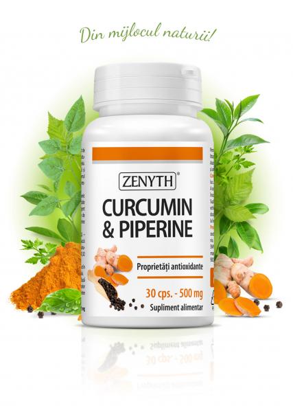 Supliment alimentar, Zenyth Curcumin & Piperine (500 mg) - 30 capsule [0]