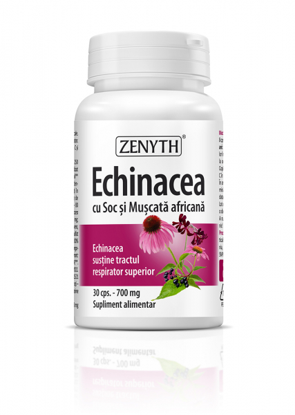 Echinacea cu Soc si Muscata Africana (700 mg) - 30 capsule [0]