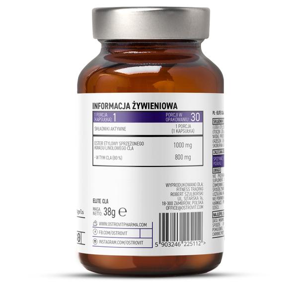Acid Linoleic Conjugat, OstroVit Pharma, Elite CLA (800 mg) - 30 capsule moi (30 doze) [1]