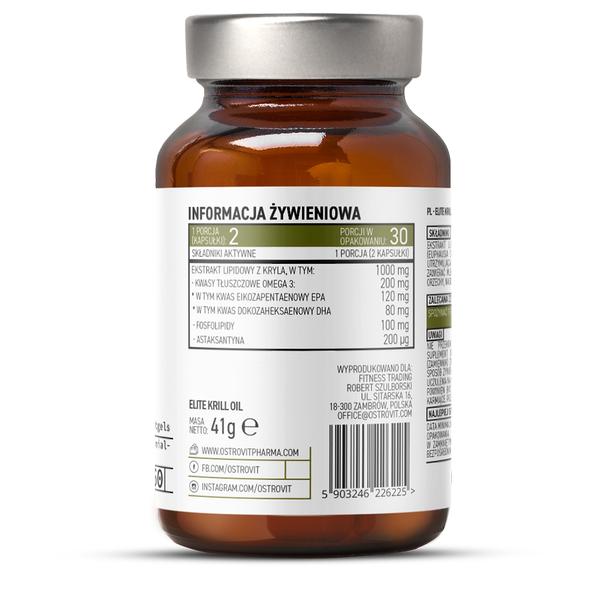 Supliment alimentar, OstroVit Pharma, Elite Krill Oil (1000 mg) - 60 capsule moi (30 doze) [1]