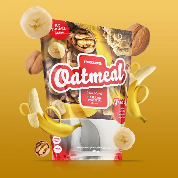 Fulgi de Ovaz Integral, 500 g, (Banane - Miez de Nuca) [2]