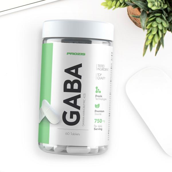 Supliment alimentar, GABA, Acid Gama Amino - Butiric, 750 mg, 60 comprimate [3]