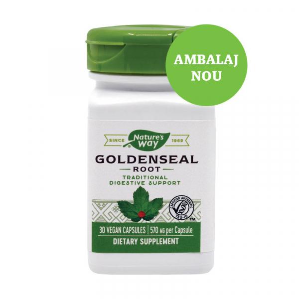 Supliment alimentar, Goldenseal (570 mg) - 30 capsule [0]
