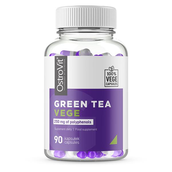 Extract de ceai verde (500 mg din care Polifenoli - 250 mg), OstroVit Green Tea VEGE 90 - capsule (90 doze) [0]