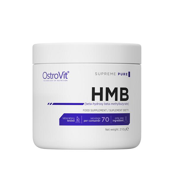 Supliment alimentar, Beta-Hidroxi Beta-Metilbutira (2982 mg), OstroVit Supreme Pure HMB - 210 g (70 doze) [0]