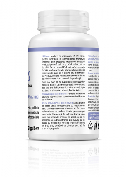 Supliment alimentar, Inulin FOS - 120 g (pulbere) [3]