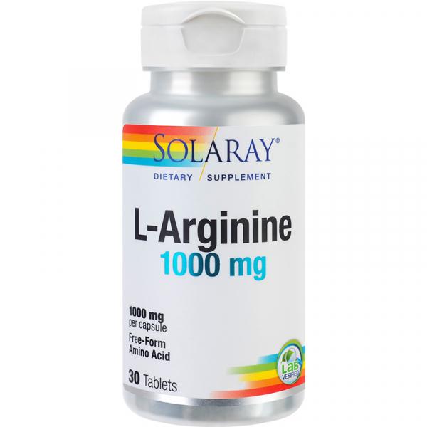 Supliment alimentar, Arginina (1000 mg), Solaray L-Arginine - 30 tablete [0]
