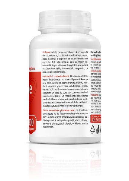 Supliment alimentar, L-Arginine (800 mg) - 60 capsule [3]
