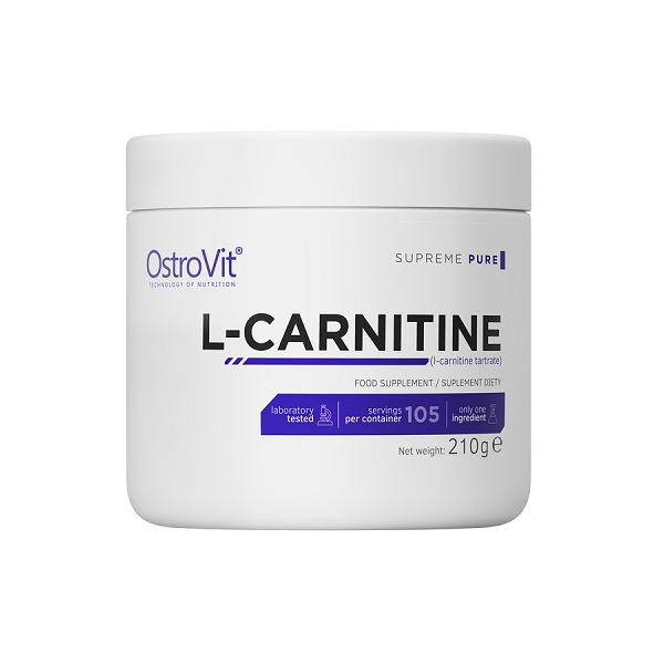 Arzator de Grasimi, L-Carnitina (2000 mg), OstroVit Supreme Pure L-Carnitine - 210 g (105 doze) [0]