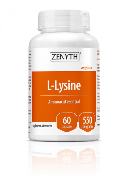 Supliment alimentar, L-Lysine (550 mg) - 60 capsule [0]