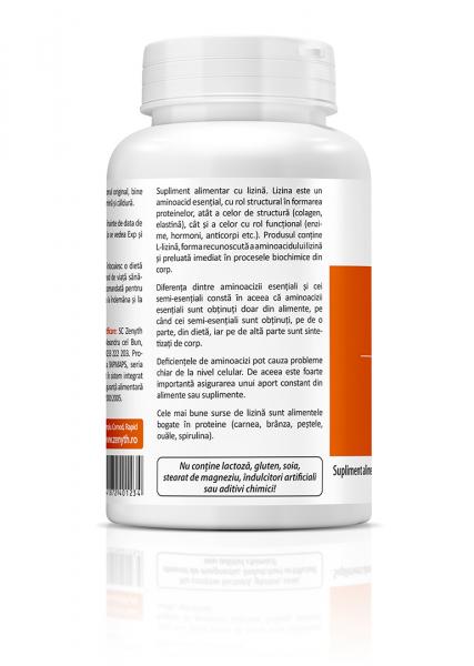 Supliment alimentar, L-Lysine (550 mg) - 60 capsule [1]