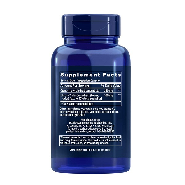 Complex pentru Confort Urinar Feminin, Life Extension Optimized Cran-Max® Cranberry Extract - 60 capsule (60 doze) [1]