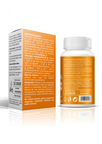 Supliment alimentar, Longvida® Brain Curcumin (500 mg) - 30 capsule [2]