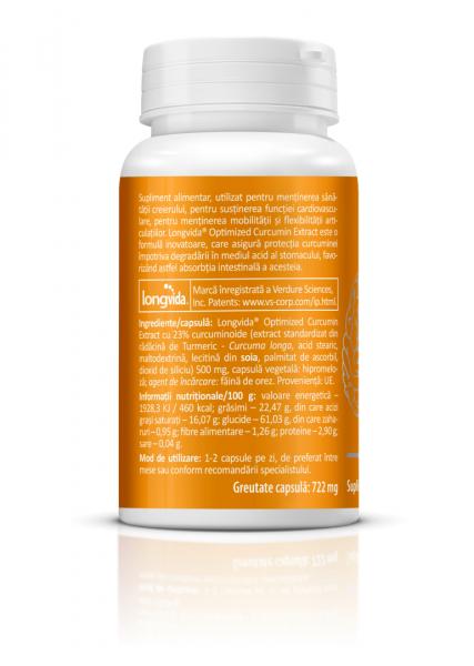 Supliment alimentar, Longvida® Brain Curcumin (500 mg) - 30 capsule [4]