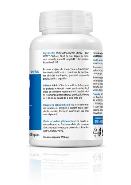 Supliment alimentar, MSM 500 (500 mg) - 60 capsule [3]