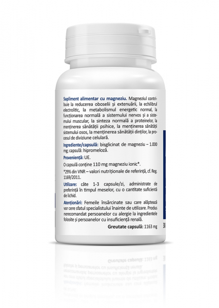 Supliment alimentar, Magnesium Bisglycinate - 30 capsule [1]