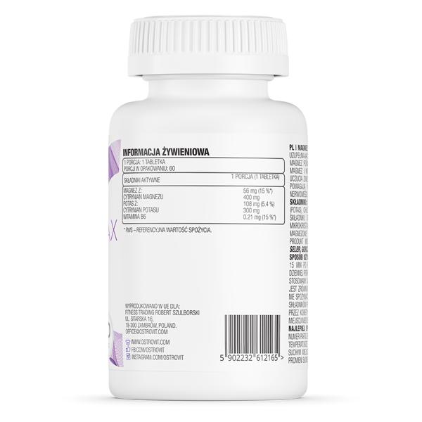 Supliment alimentar, Magneziu, Potasiu, Vitamina B6, OstroVit Magnez Max - 60 comprimate (60 doze) [1]