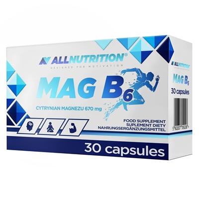 Magneziu (670 mg) cu Vitamina B6 (700mcg), Mag B6 - 30 capsule (30 doze) [0]