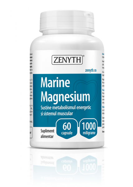 Supliment alimentar, Marine Magnesium (1000 mg) - 60 capsule [0]