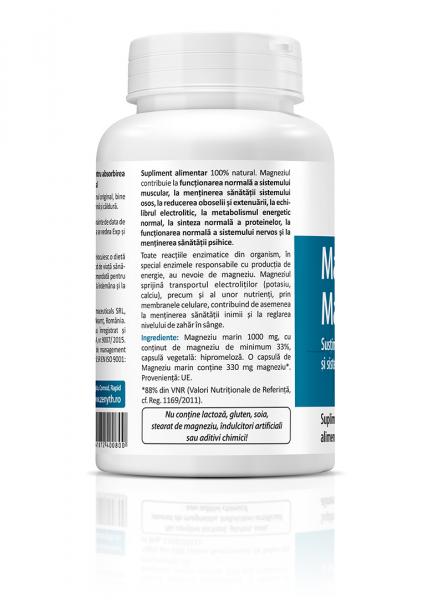 Supliment alimentar, Marine Magnesium (1000 mg) - 60 capsule [1]