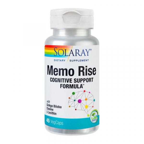 Complex pentru Memorie si Concentrare, Solaray Memo Rise - 45 capsule [0]