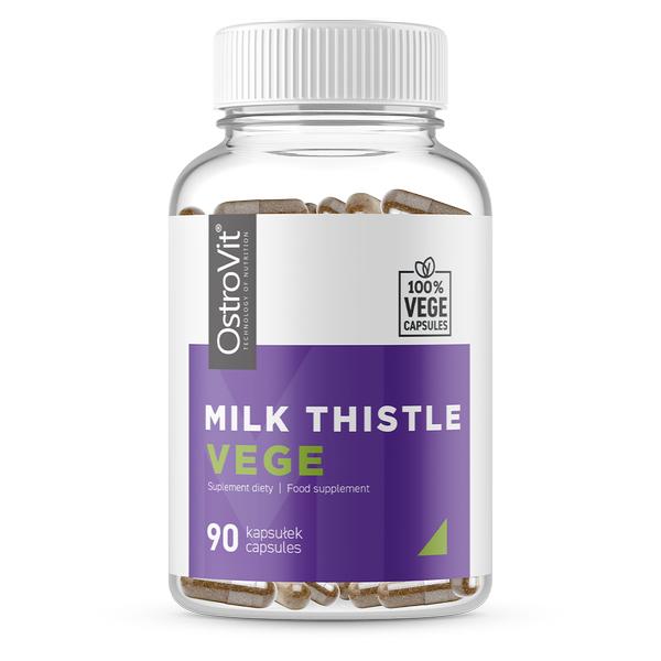 Supliment alimentar, Silimarina, OstroVit Milk Thistle Vege (700 mg) - 90 capsule (90 doze) [0]