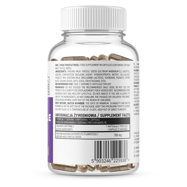 Supliment alimentar, Silimarina, OstroVit Milk Thistle Vege (700 mg) - 90 capsule (90 doze) [1]
