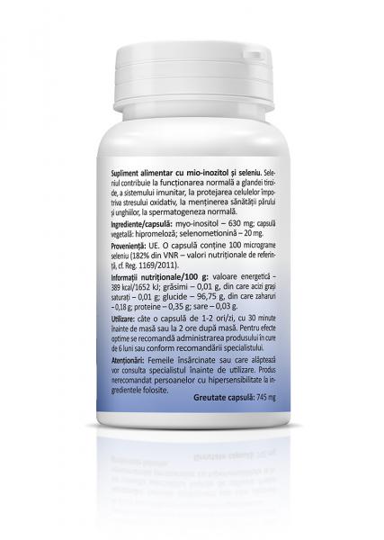 Supliment alimentar, Myo-Inositol + Selenium - 30 capsule [1]