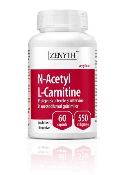 Supliment alimentar, N-Acetyl L-Carnitine (550 mg) - 60 capsule [0]