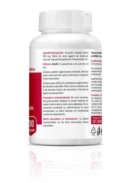 Supliment alimentar, N-Acetyl L-Cysteine (300 mg) - 60 capsule [3]