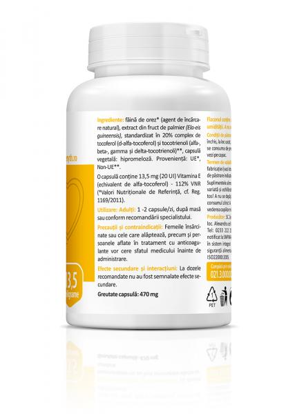 Supliment alimentar, Natural Vitamin E (13,5 mg) - 60 capsule [3]