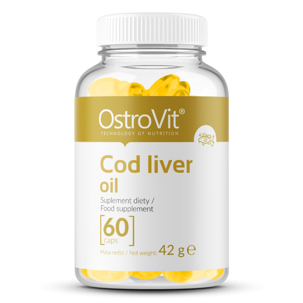 Supliment alimentar, Ulei de Ficat de Cod, OstroVit Cod Liver Oil - 60 capsule (60 doze) [0]