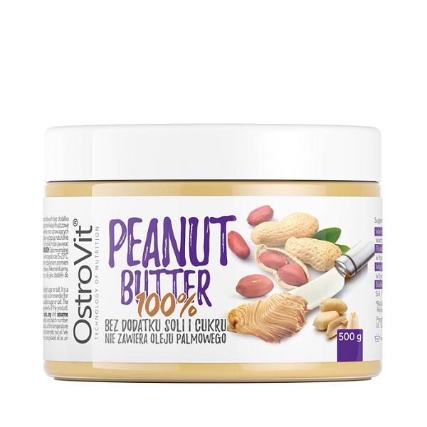 Unt de Arahide, OstroVit Peanut Butter 100% - 500 g (Vegan, Vegetarian) [0]