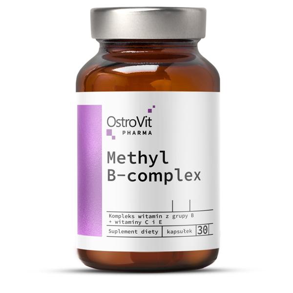 Complex Hepatoprotector, Detoxifiant, Metabolismul Glucozei, OstroVit Pharma Methyl B-Complex - 30 capsule (30 doze) [0]