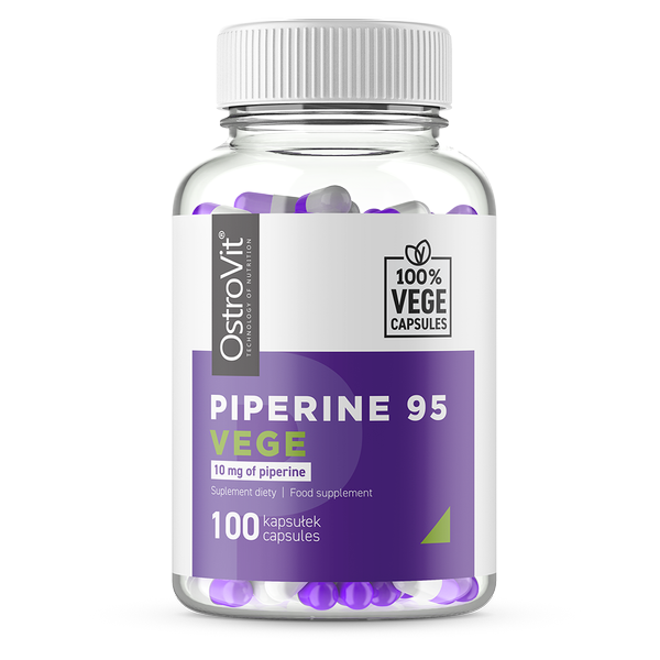 Supliment alimentar, Piperina (standardizat 95%), OstroVit Piperine VEGE - 100 capsule (100 doze) [0]
