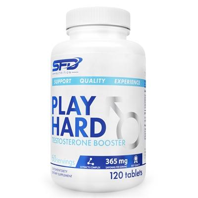 Supliment alimentar, Play Hard Testosterone Booster (90 % saponine) - 120 comprimate (60 doze) [0]