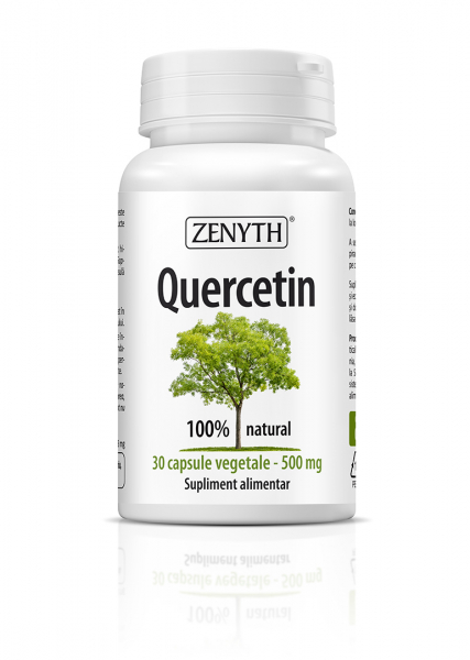 Supliment alimentar, Quercetin (500 mg) - 30 capsule vegetale [0]