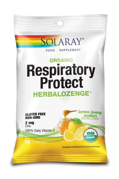 Complex pentru Imunitate, Solaray HerbaLozenge Lemon Honey Soother Drops [0]