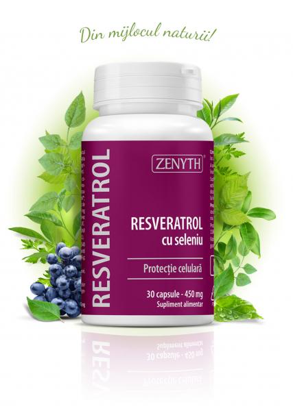 Supliment alimentar, Resveratrol cu Seleniu  (450 mg) - 30 capsule [0]