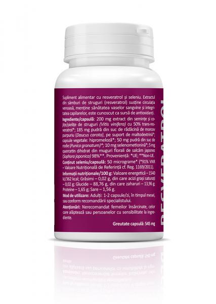 Supliment alimentar, Resveratrol cu Seleniu  (450 mg) - 30 capsule [1]