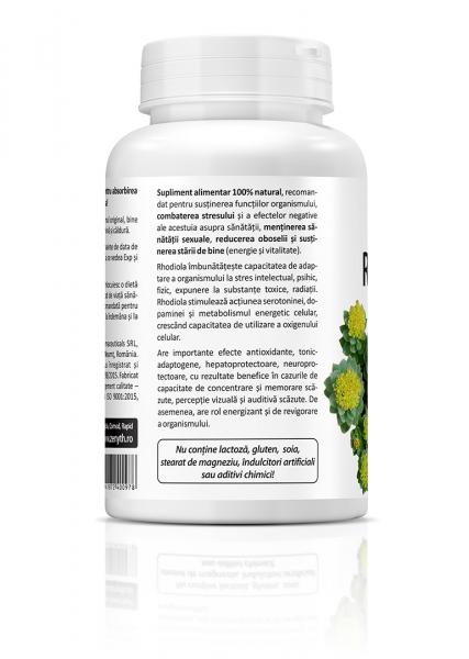 Supliment alimentar, Rhodiola (500 mg) - 60 capsule [3]